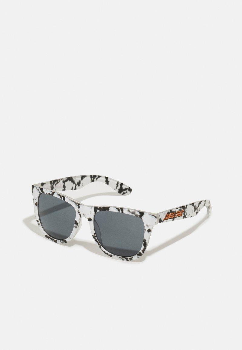 Santa Cruz - CLASSIC STRIP SUNGLASSES TIE DYE UNISEX - Lunettes de soleil - black/white