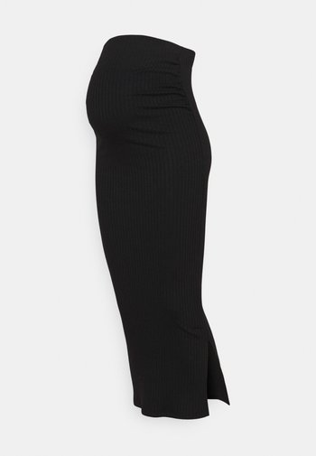 SKIRT MIDI - Pencil skirt - black