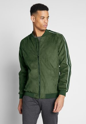 ONSJACOB - Faux leather jacket - olive night