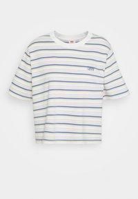 BOXY TEE - Print T-shirt - off-white/purple