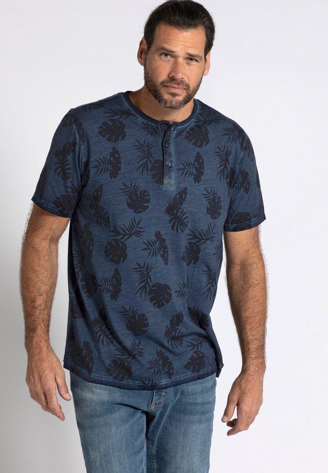 HENLEY  - Print T-shirt - bleu marine foncé