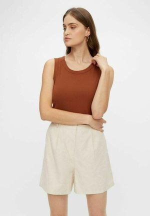 YASELLE - Top - tobacco brown