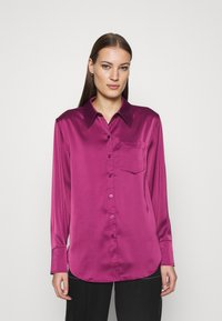 Who What Wear - Button-down blouse - deep berry - 0