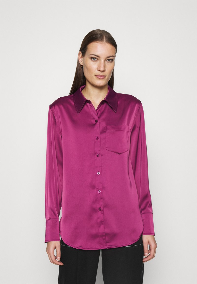 Who What Wear - Button-down blouse - deep berry