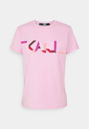 STRIPE LOGO - T-shirts print - pink