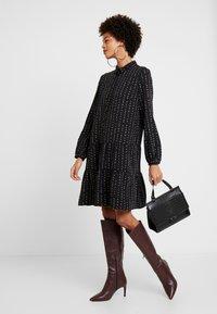 Esprit - TIERED HEM DRESS - Skjortklänning - black - 2