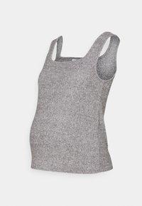 Topshop Maternity - BRUSHED NECK VEST - Top - grey - 0
