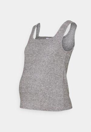 BRUSHED NECK VEST - Top - grey