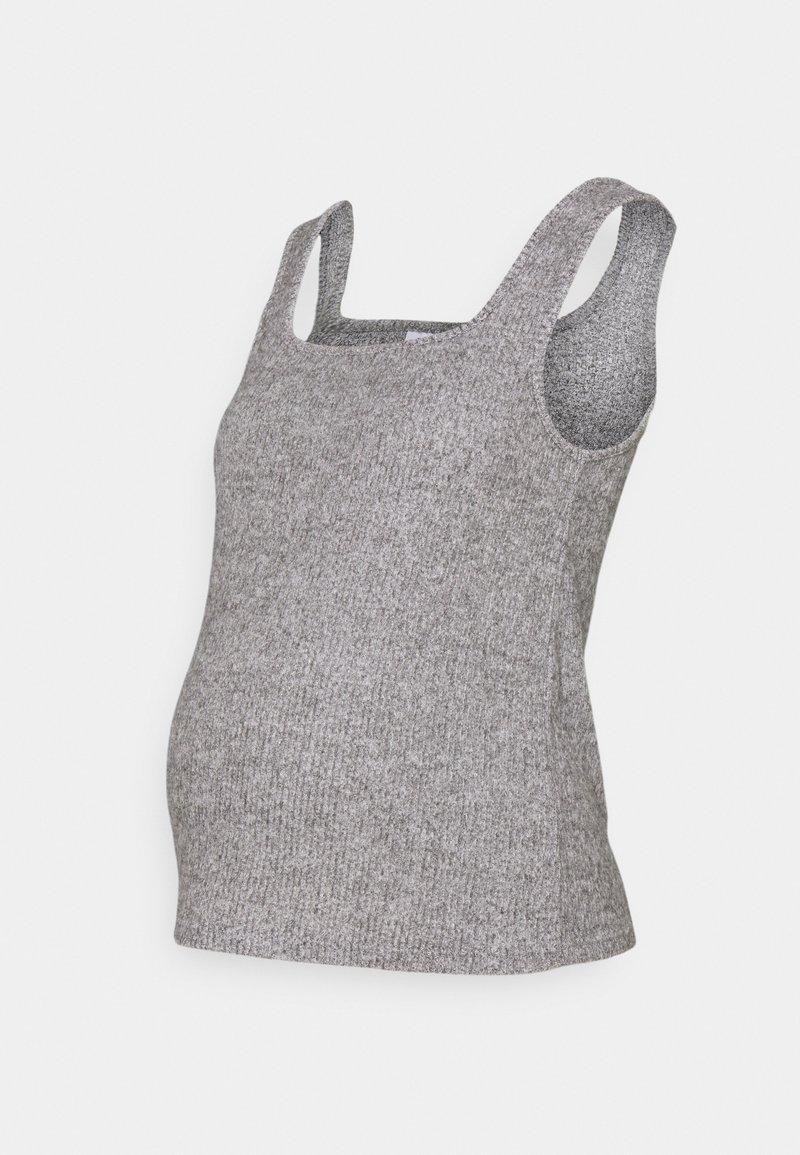 Topshop Maternity - BRUSHED NECK VEST - Top - grey