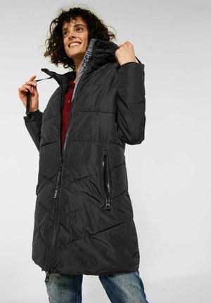 IN STEPP OPTIK - Winter coat - schwarz