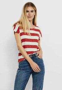 Vero Moda - VMWIDE STRIPE TOP  - Camiseta estampada - goji berry - 0
