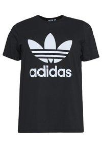 adidas Originals - TREFOIL TEE - Printtipaita - black/white - 4