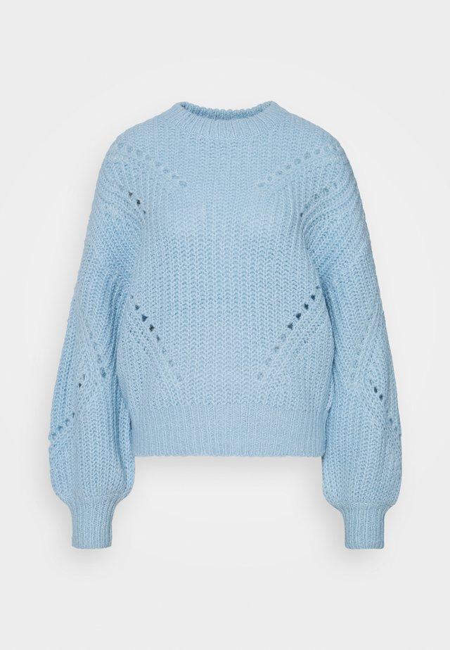 YASPOWDA - Stickad tröja - powder blue