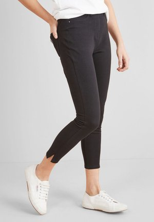 JERSEY CROPPED  - Leggings - Trousers - black