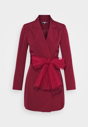 Shirt dress - burgundy