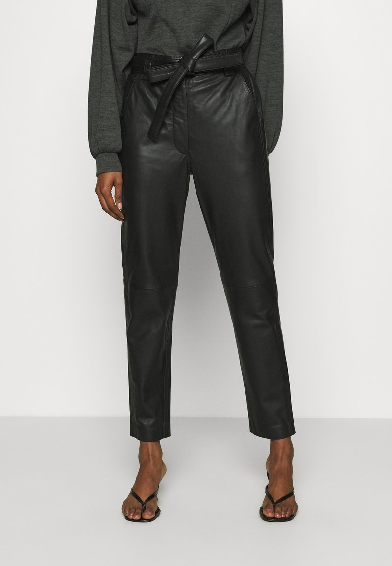 Second Female - INDIE TROUSERS - Leather trousers - caviar