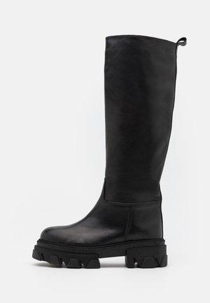 ROCKET - Platform boots - noir
