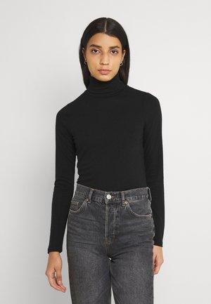 ROLL NECK LONG SLEEVE - Maglietta a manica lunga - black