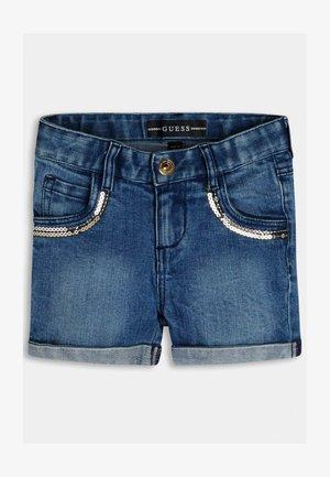 Denim shorts - gemustert multicolor
