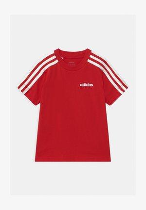 UNISEX - T-shirt med print - scarlet/white