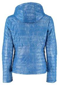 DNR Jackets - MIT KAPUZE - Leather jacket - blue - 1