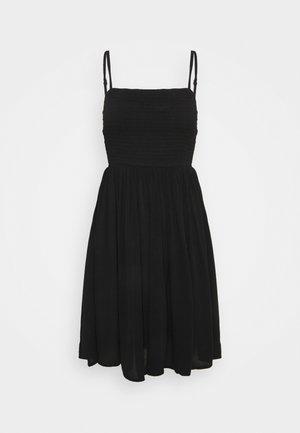 VIMESA SHORT SMOCK DRESS - Vestito estivo - black