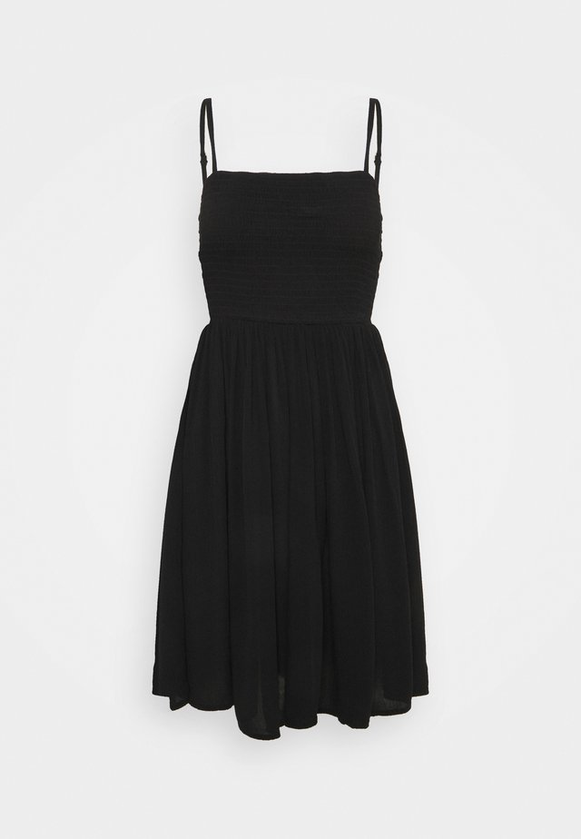 VIMESA SHORT SMOCK DRESS - Korte jurk - black