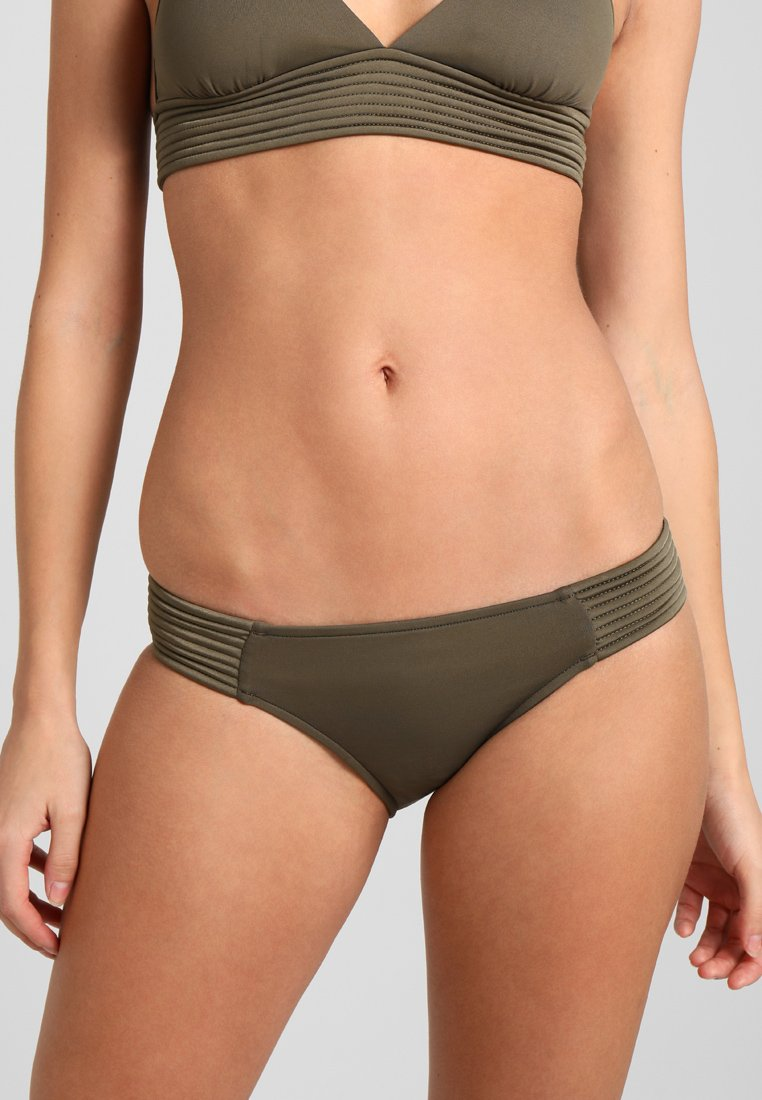 Seafolly - QUILTED HIPSTER - Bikini bottoms - dark olive