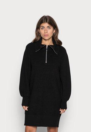 YASDALMA ZIP DRESS - Gebreide jurk - black