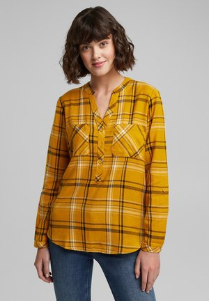 FASHION CHECK - Blouse - brass yellow