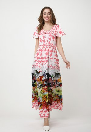 Maxi dress - rosa/weiß