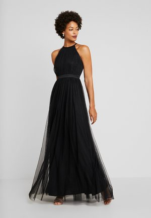 DELICATE HALTER NECK WAISTBAND DRESS - Galajurk - black