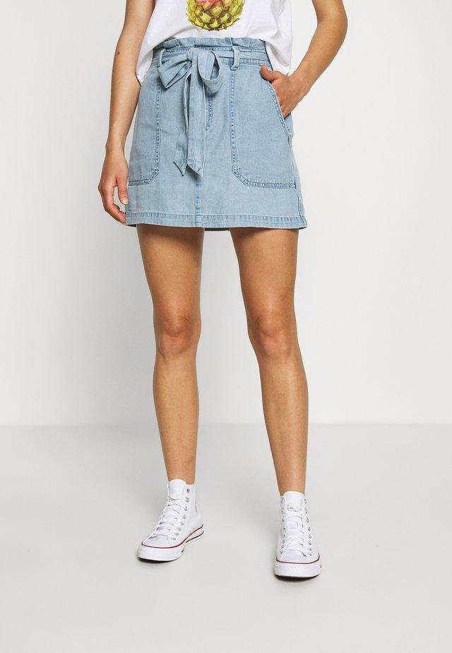 CHAIN STRIPE SKIRT - A-line skirt - chambray blue