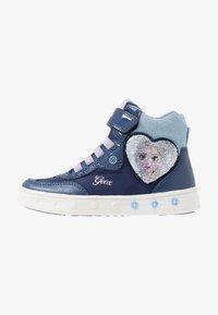 Geox - SKYLIN GIRL FROZEN ELSA - Sneakers hoog - navy/lilac - 0