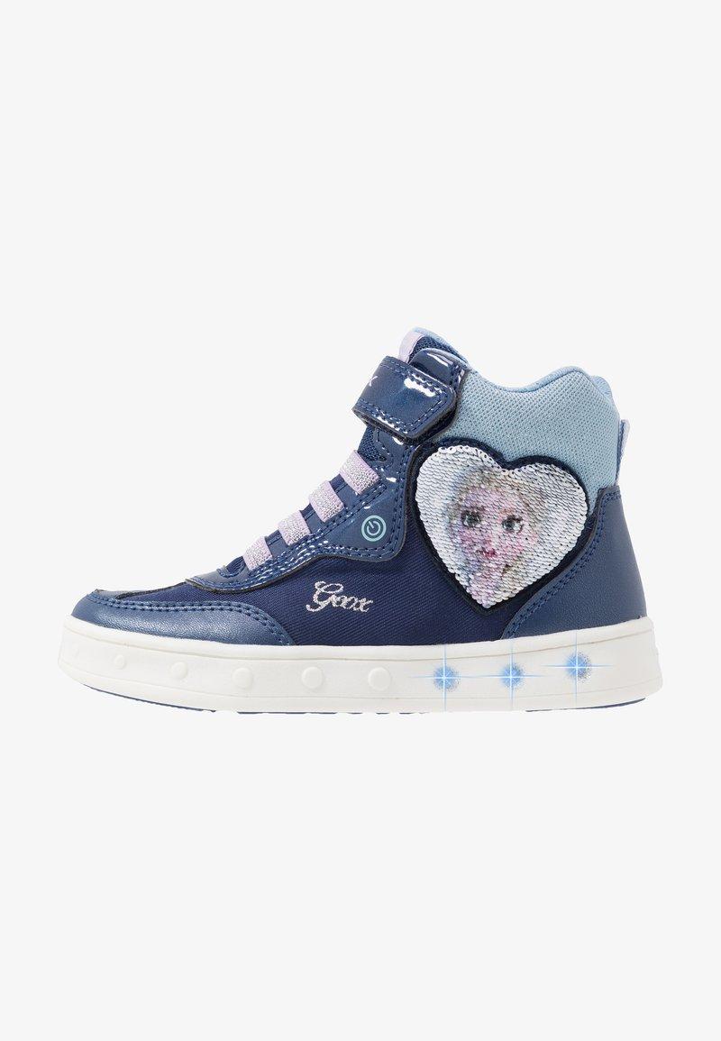 Geox - SKYLIN GIRL FROZEN ELSA - Sneakers hoog - navy/lilac