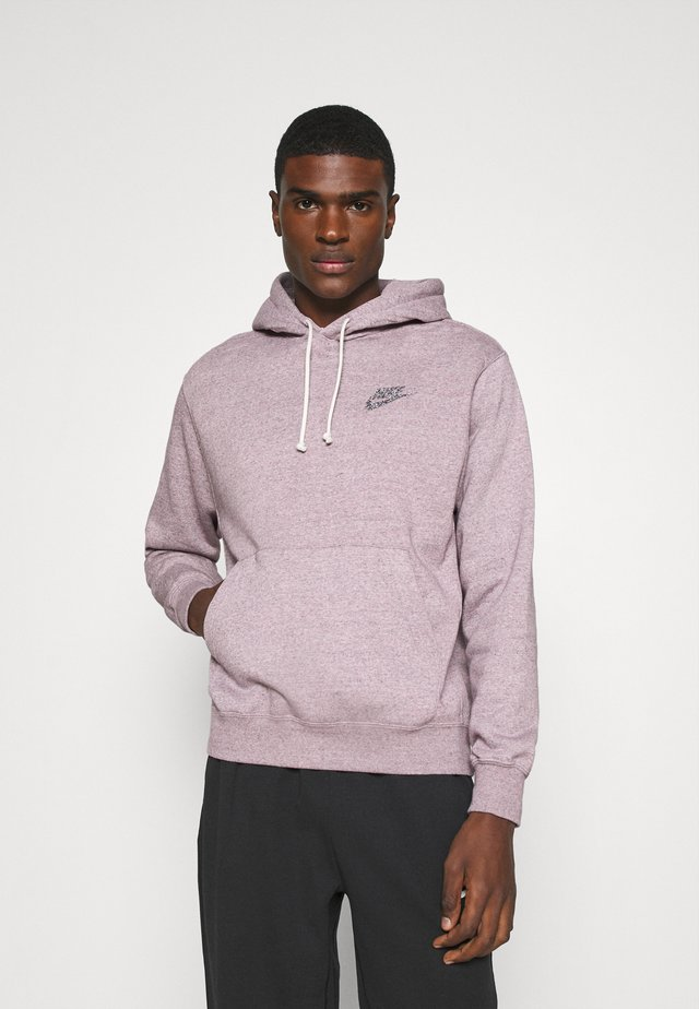 HOODIE - Felpa con cappuccio - multi-color/university red