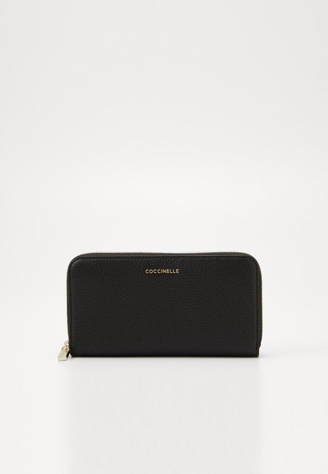 METALLIC SOFT ZIP AROUND - Wallet - noir
