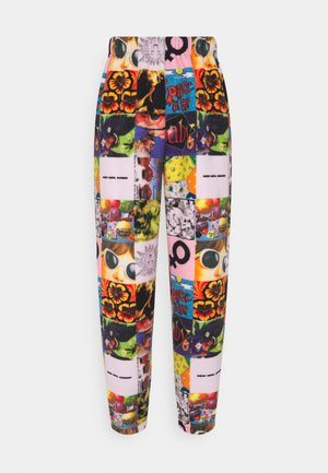 COLLAGE - Tracksuit bottoms - multi