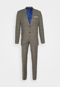 SLHSLIM CHECK SUIT SET - Suit - sand