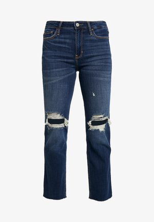 DESTROY - Džíny Straight Fit - dark-blue denim