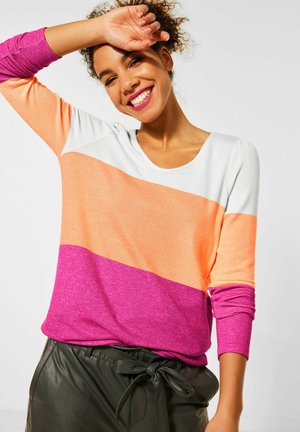 MIT COLOURBLOCK-DESIGN - Long sleeved top - orange