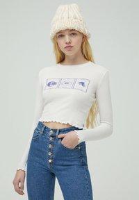 PULL&BEAR - Bluzka z długim rękawem - white - 0
