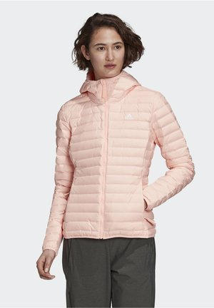 VARILITY SOFT HOODED OUTDOOR DOWN JACKET - Chaqueta softshell - pink