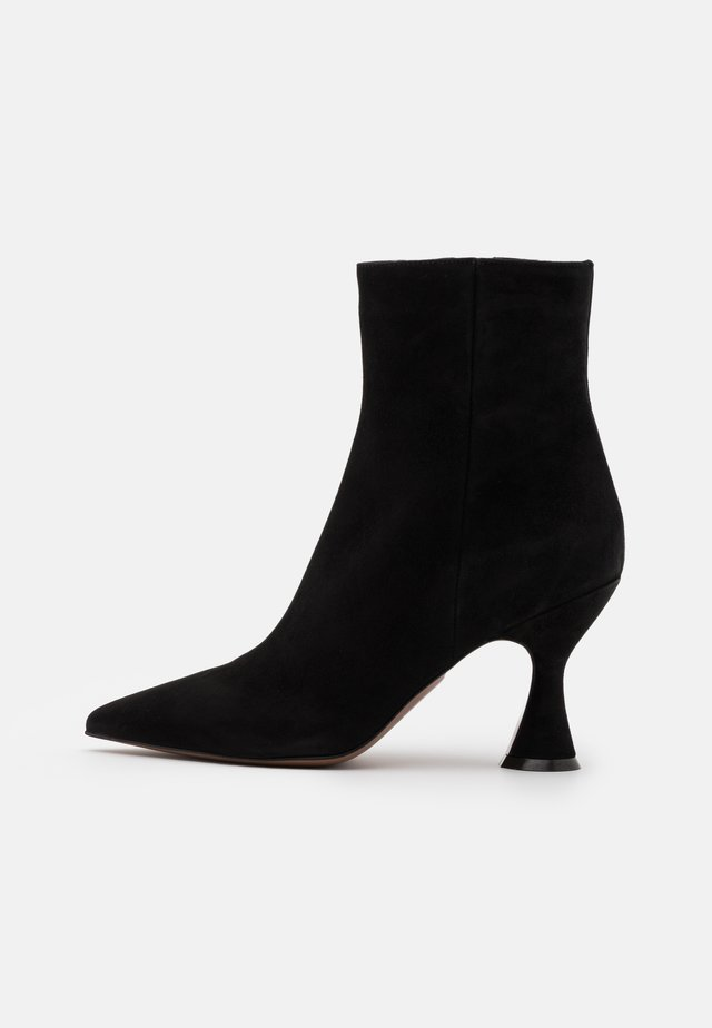 ZIP BOOT - High heeled ankle boots - black