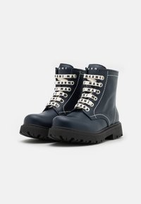 Marni - Lace-up ankle boots - dark blue - 1