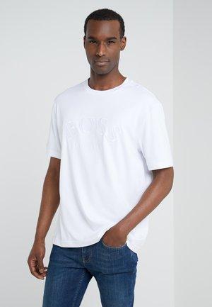 TALBOA - Print T-shirt - white