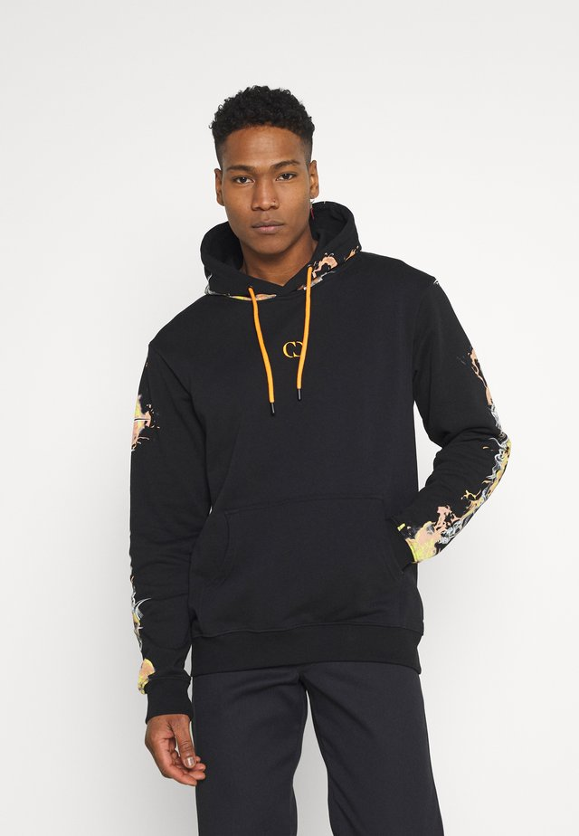 BARB FLAME HOOD - Sweatshirts - black