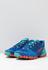 La Sportiva - BUSHIDO II WOMAN - Trail running shoes - marine blue/aqua - 2