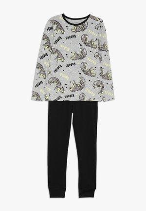 NKMNIGHTSET GLOW - Pijama - dark grey melange