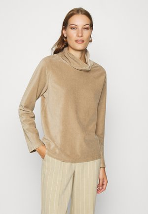 SLAY ROLL NECK BLOUSE - Sweatshirt - silver mink